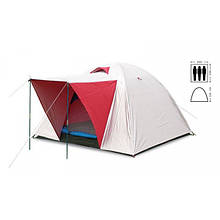 Палатка универсальная 3-х местная с тентом и тамбуром (PL)