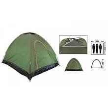 Палатка универсальная самораскладывающаяся 3-х местная (зеленый)