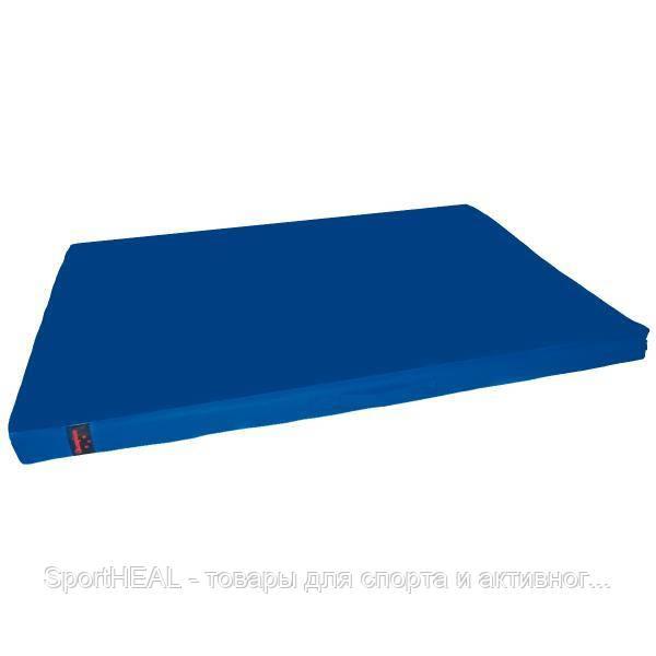Мат гимнастический Champion 100*100*10 см синий чехол тент/пвх