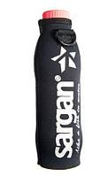 Чехол термос для пластиковой бутылки 0,5-0,6 л Sargan; чёрный