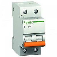 Автоматический выключатель SCHNEIDER BA63 2P/63A С