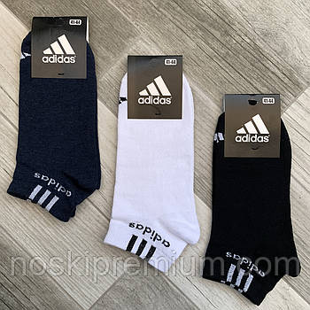 Носки мужские демисезонные хлопок спортивные Adidas, Athletic Sports, короткие, ассорти, 06206