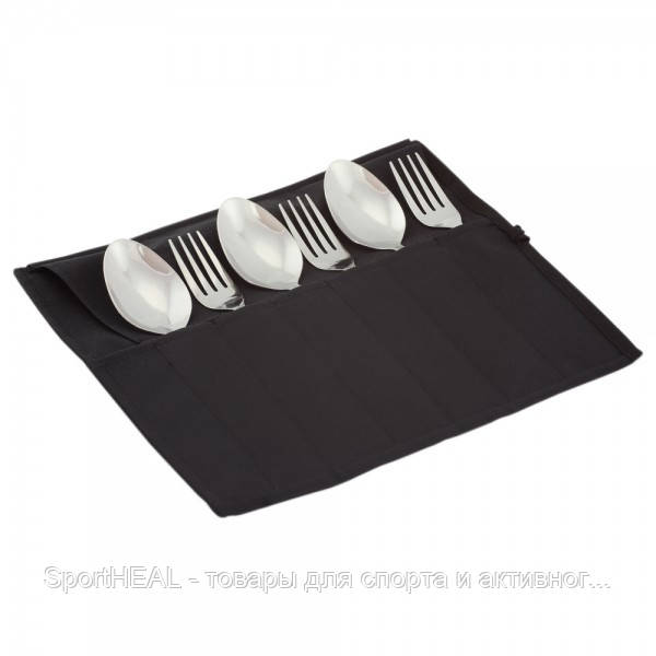 Туристический набор Champion 6 столовых предметов черный