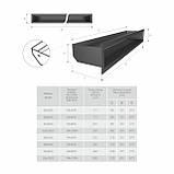 Вентиляційна решітка для каміна SAVEN Loft 60х1000 чорна, фото 3