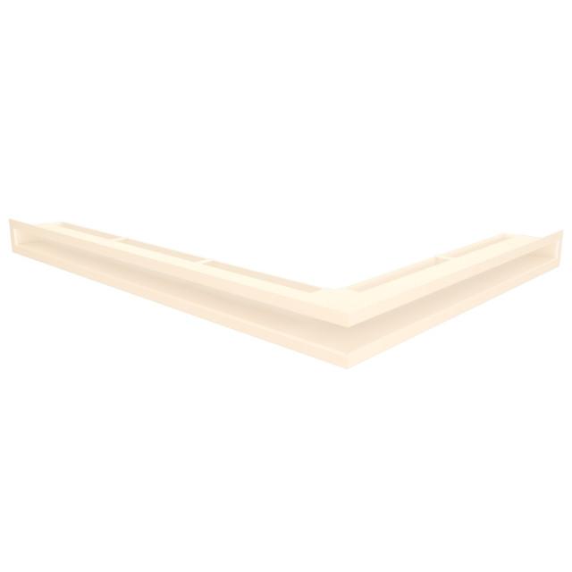 Вентиляційна решітка для каміна кутова ліва SAVEN Loft Angle 60х600х800 кремова