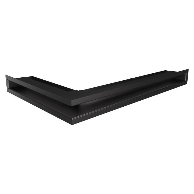 Вентиляційна решітка для каміна кутова права SAVEN Loft Angle 60х600х400 чорна