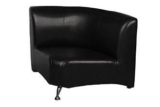 Офисный угловой диван Премьера Метро Угол 870х870х750 мм Черный (hub_qrVA21044)