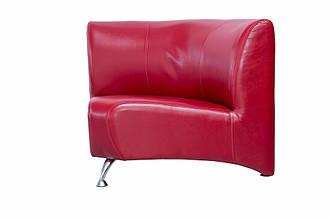 Офисный угловой диван Премьера Метро Угол 870х870х750 мм Красный (hub_KVks09727)