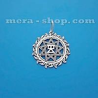 Чертог Девы в Солнце серебряный славянский кулон-оберег
