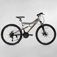 """Велосипед Спортивный CORSO 26""""дюймов 64856 (1) рама металлическая 16'', 21 скорость, собран на 75%"""