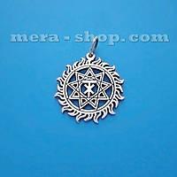 Чертог Лося в Солнце серебряный славянский кулон-оберег