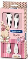 Столовые приборы для детей 2шт Tramontina  BABY Le Petit pink