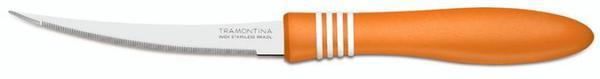 Нож для томатов 125 мм Tramontina COR & COR 2шт, оранжевая ручка