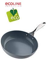 Сковорода  с керамическим антипригарным покрытием 24 см Vinzer  Ecoline