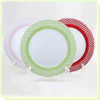 Набор фарфоровых тарелок 26 см Maestro MR10009-04 6 пр. розовый