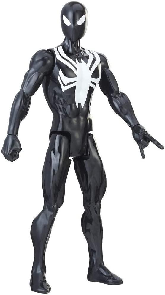 Игрушка-фигурка Hasbro, Человек-Паук Чёрный Костюм Марвел, 30 см - Black Spider-Man, Marvel, Titan Hero Series