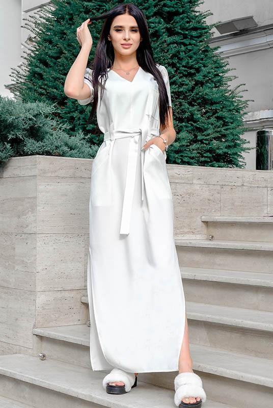 Светлое льняное платье Темми