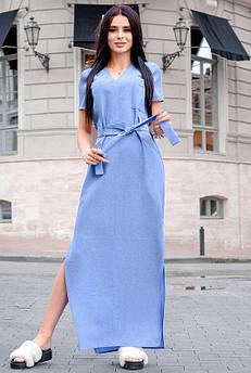 Голубое летнее платье Темми