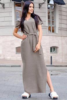 Молодежное платье с карманами Темми лен