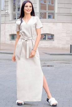 Бежевое платье Темми лето