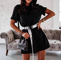 Молодежное платье для девушек размер 42-46,цвет уточняйте при заказе (принт на поясе может отличаться)