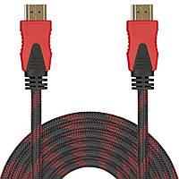 Кабель мультимедийный Lesko HDMI/HDMI 15m для телевизоров DVD плазменных и ЖК панелей игровых консолей