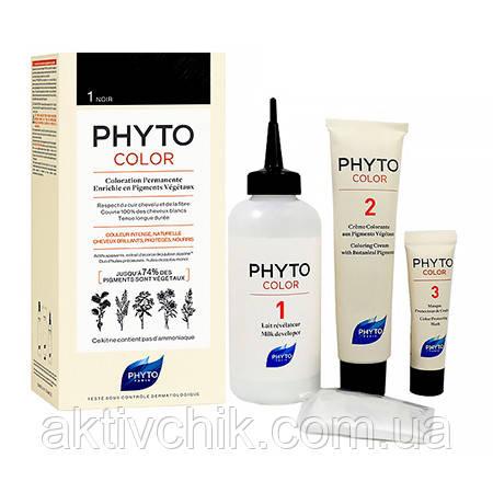 Крем-краска для волос PHYTO (Фито) Фитоколор тон 1 Черный (Брюнет)