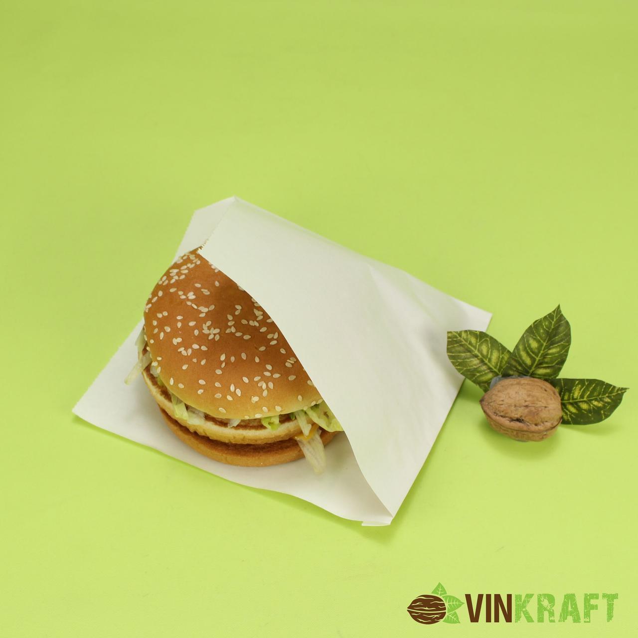 Паперовий куточок 140*150 (40 г/м2) для бургера, білий