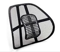 Ортопедическая спинка-подушка с массажером на сиденье на кресло   Спинка на авто сиденье, фото 1