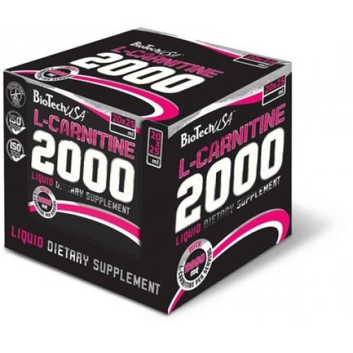 Жиросжигатель BioTech L-Carnitine 2000, 20 ампул/уп Зеленый чай
