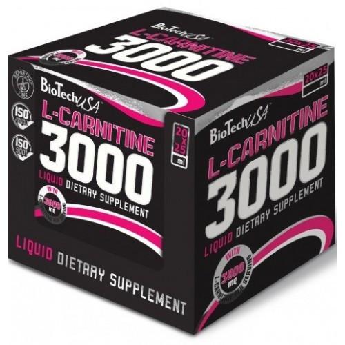 Жиросжигатель BioTech L-Carnitine 3000, 20 ампул/уп Апельсин