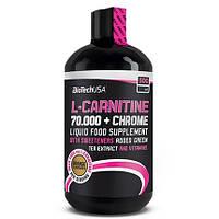 Жиросжигатель BioTech L-Carnitine 70 000 + Chrome, 500 мл - апельсин