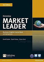 Учебник Market Leader (3rd Edition) Elementary Course Book + DVD-ROM and MyEnglishLab
