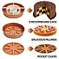 Багатофункціональна форма для випічки Copper Chef Perfect Cake Pan №A139   Форма для запікання антипригарна, фото 9