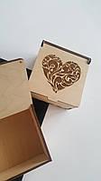 Подарочная деревянная коробка 10×10×6