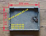 Дверка чугунная печная чугунное литье, барбекю, мангал, печи, котлы (200х250 мм), фото 2
