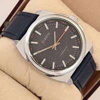 Классические часы мужские на ремешке водонепроницаемые Curren Classico 8168 Silver-Blue