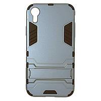 Чехол пластиковый Honor Space для Apple iPhone XR серый | Противоударный чехол для Apple iPhone XR