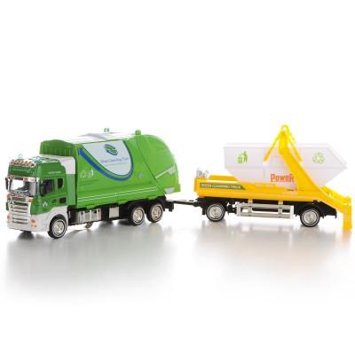 IM307 Модель мусоровоза прицеп