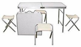 Стол чемодан раскладной Folding Table 120см х 60см х 70см   со стульями