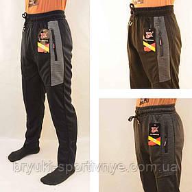 Штаны спортивные мужские трикотажные  Брюки мужские Ao Longcom с молниями на карманах Прямые книзу Черный