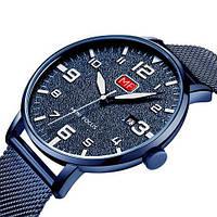 Часы наручные кварцевые мужские оригинальные Mini Focus MF0158G.06 All Blue