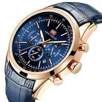 Оригинальные мужские наручные часы Mini Focus MF0116G Blue-Gold