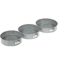 Набор разъемных круглых форм для выпечки Granit Maestro MR-1125 | формы для выпекания 3 шт Маэстро, Маестро