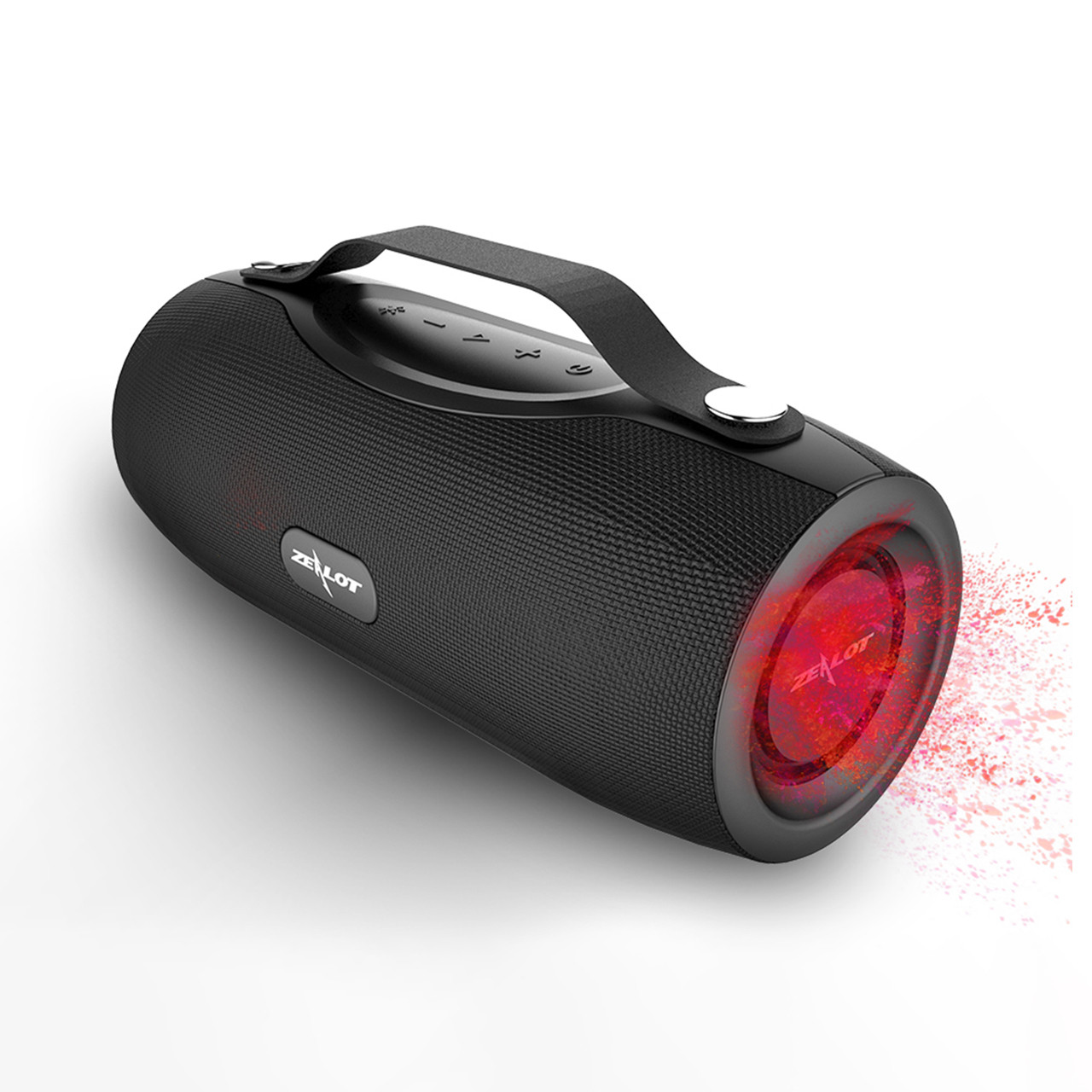 Блютуз колонка ZEALOT S29 Black портативная радио 10 Вт Power Bank Фонарик батарея 2000 мАч