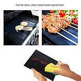 BBQ grill sheet гриль мат портативный антипригарным покрытием 33 * 40 см , фото 5
