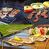 BBQ grill sheet гриль мат портативный антипригарным покрытием 33 * 40 см , фото 8