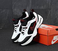 Кроссовки Nike Air Monarch 4 черно-белые (Найк Монарх)