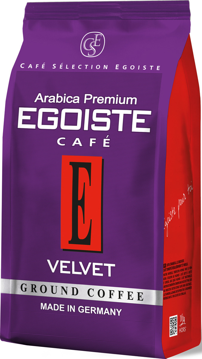 Кофе Эгоист молотый Вельвет 200 грамм в фольгированном пакете