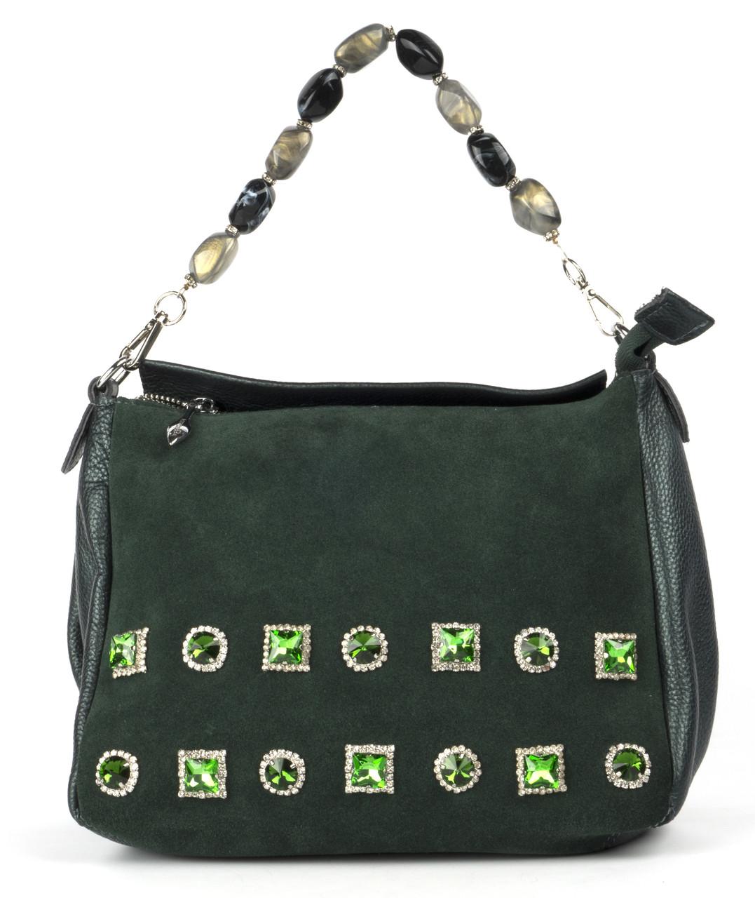 Женская кожаная сумка с камнями art. 118 Турция